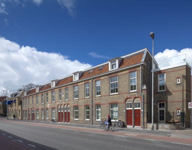 Vooraanzicht Cipierswoningen Leeuwarden